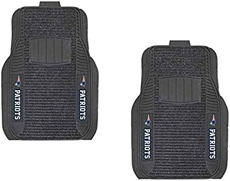 Officially Licensed NFL Car Front Floor Mat 22.5 x 17.5 Multi Color Pack of 2