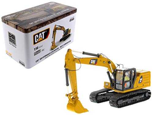 (Diecast Masters CAT Caterpillar 320 Hydraulic Excavator with Operator High Line Series 1/50 Diecast)