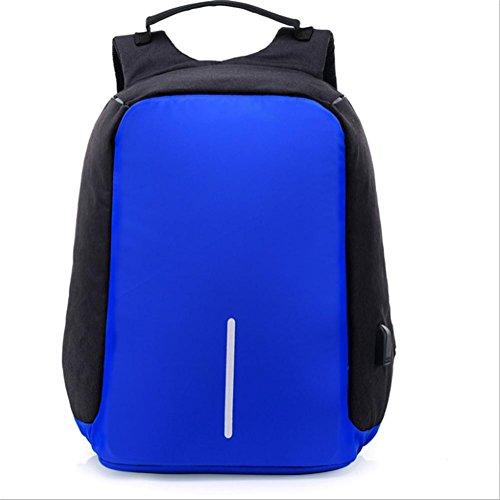 Azul De Marino Usb Bandolera Negocios Bolsa Antirrobo Color Smart Oxford Viaje De Paño De TT1O7