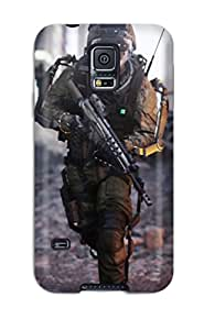 New Call Of Duty Advanced Warfare Tpu Case Cover, Anti-scratch StephenThomas Phone Case For Galaxy S5