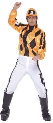 Mens Adult Jockey Horse Racing Races Fancy Dress Costume Outfit