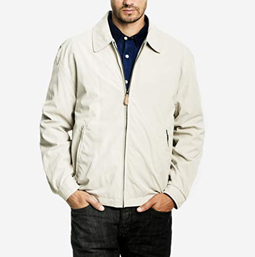 - London Fog Men's Auburn Zip-Front Golf Jacket, Cement, XLarge