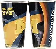 NCAA 16 oz. 2-Tone Pint Glass Set