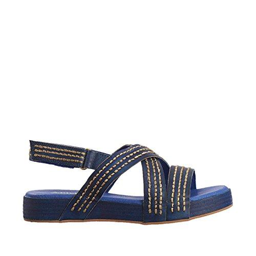 Antelope Womens 201 Leather Triple Stitch Sandals Blue fI1k9vhS