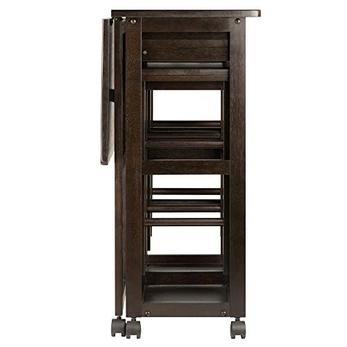 Winsome Wood 23330 Suzanne 3-PC Set Space Saver Kitchen, Smoke by Winsome Wood (Image #5)