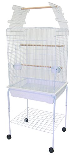 YML Open Top Parrot Cage, 5 by 8-Inch, White by YML