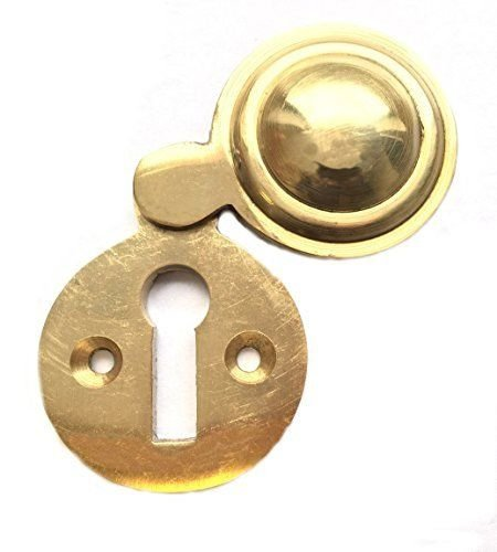 Keyhole Victorian Polished Brass Escutcheon Key Cover For Door Locks 35mm