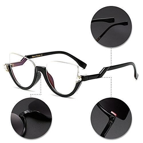 demi lunettes vue cerclées style soleil Lunettes Dames Femmes rondes KINDOYO Dernier lunettes soleil de Mode de Style 06 de Vintage petites pnwI1qYU