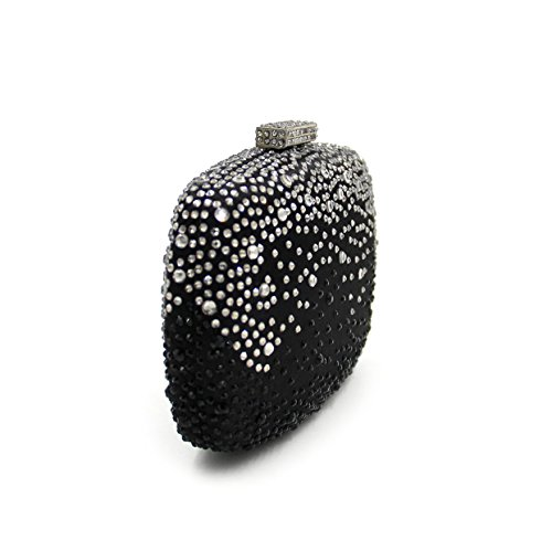 WYB Schwarz Luxus Strass Abendtasche / High-End-Kristall-Diamant-Abendtasche / Kupplung / Handtasche