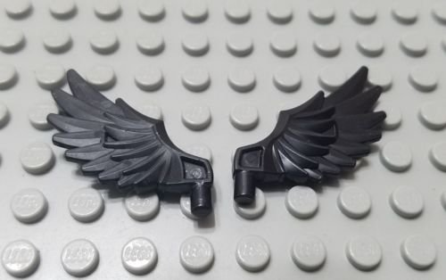 LEGO parts black wing minifigure 2 feathered angel wings Chima minifig new set