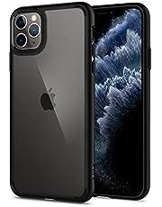 Spigen Ultra Hybrid Serisi Kılıf iPhone 11 Pro Max ile Uyumlu/TPU AirCushion Teknoloji/Ekstra Koruma - Matte Black