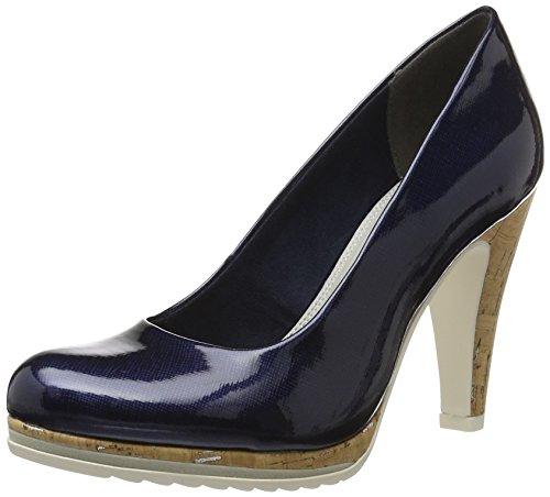 Femme 22401 Marco Tozzi 805 Bleu Navy Escarpins n1nH8a4x