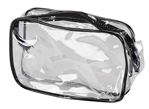 Clear Cosmetic Bag with Zipper - 6-Pack Plastic Make-Up Pouch, Travel Toiletries Waterproof Organizer, for Women and Teens, 7.8 x 5.1 x 2.25 Inches