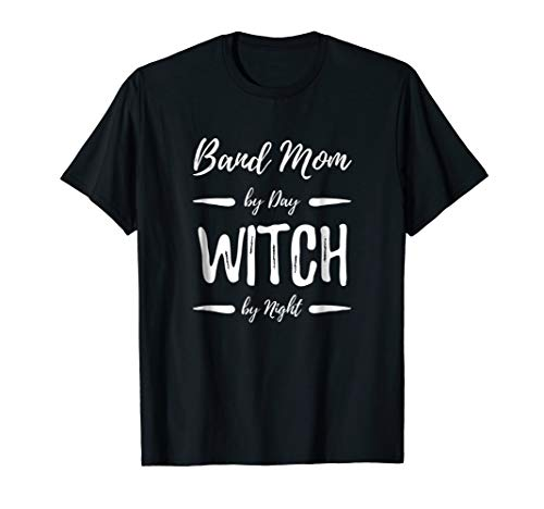 Band Mom Witch T-Shirt Funny Musician Halloween Costume Gift for $<!--$17.99-->