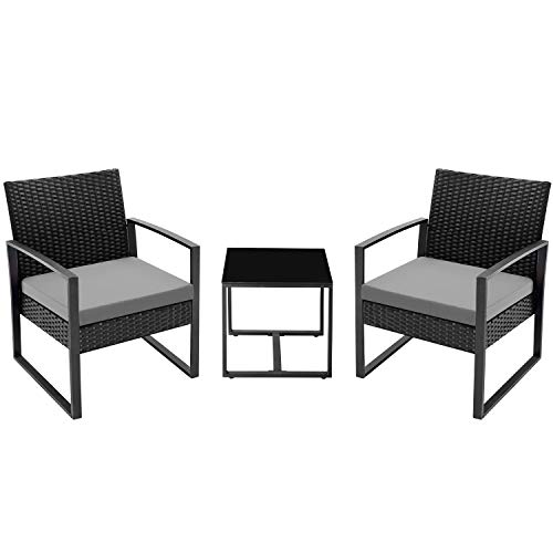 Flamaker 3 Pieces Patio Set Outdoor Wicker Patio