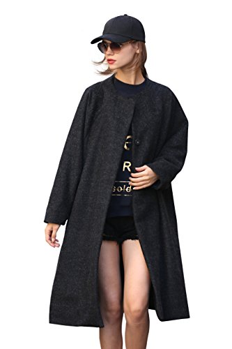 Big Button Wool Coat - 5