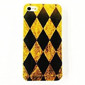 RC - Fashion Box Pattern Plastic Hard Case for iPhone 5/5S , Multicolor
