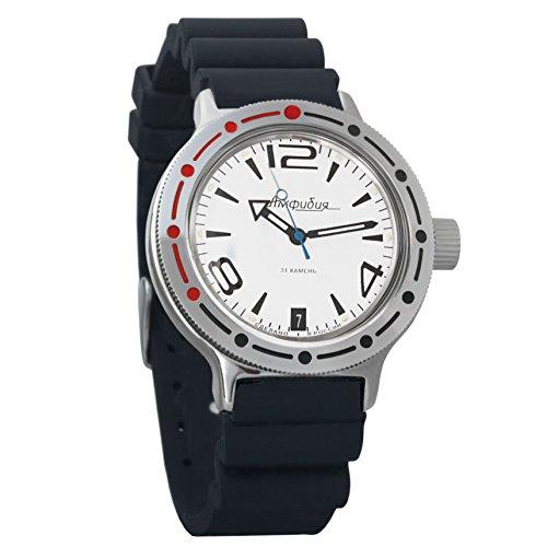 Dive Watch Case Resin (Vostok Amphibian Automatic Mens WristWatch Self-winding Military Diver Amphibia Case Wrist Watch #420273 (resin))
