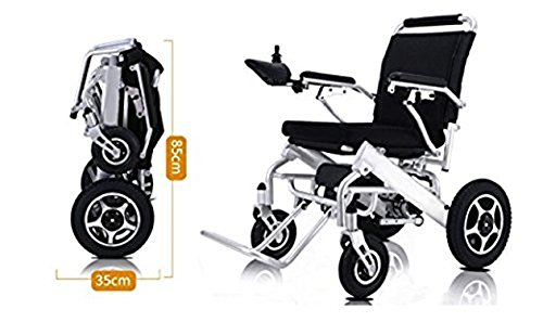 New Lightweight Folding Remote Control Electric Wheelchair Motorized, only 50 lbs Supports up to 350 lbs, FDA Approved (Wheel Companion Electric Scooter)