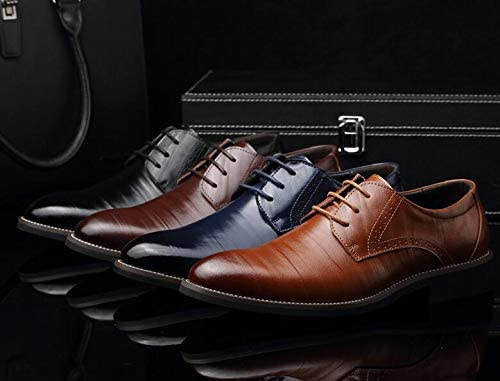 ALSYIQI Mens Classical Fashion Casual Oxford Business Shoes Dress Shoes