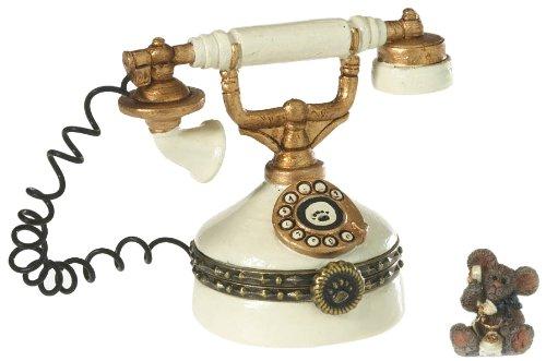 Enesco Boyds Resin Telephone Treasure Box Trinketbox,