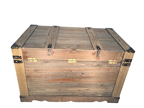 Styled Shopping Huntington All Cedar Medium Wood Storage Trunk Wooden Treasure Chest