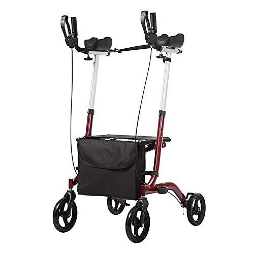 ELENKER Euro Style Upright Walker Folding Rollator Walker Red