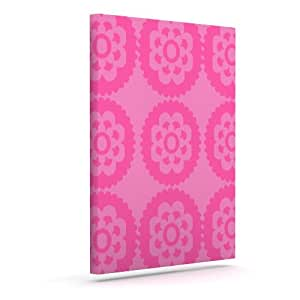 "Kess InHouse Nicole Ketchum ""Moroccan Pink"" Outdoor Canvas Wall Art, 10 by 12-Inch"
