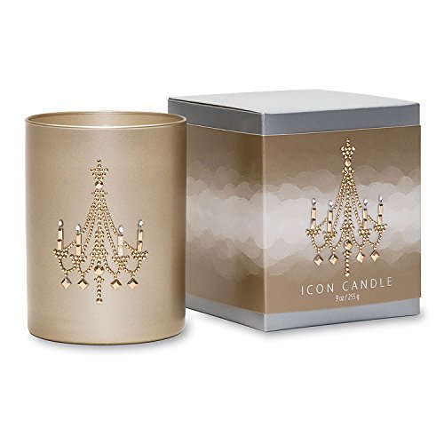 - Primal Elements Chandelier Icon Candle, 9-Ounce, Gold