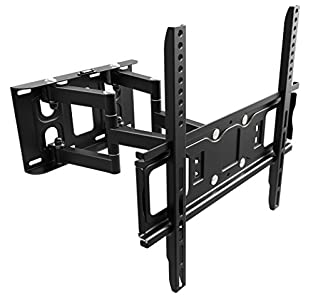 RICOO TV Wall Bracket Tilt Swivel S5244 Universal LED Curved QLED QE 4K LCD OLED SUHD UHD Television Mount Flexible Adjustable Extendable Arm Mounting 30″ – 65″ Inch VESA 200×200 400×400 – Great wall bracket