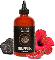TRUFFLIN Sriracha – Gourmet Black Truffle Hot Sauce with Aged Peppers, Extra Virgin Olive Oil and Garlic with