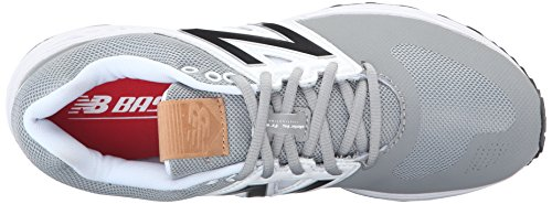 New Balance Mens 3000v3 Baseball Turf Shoes Grey/White XgUI1p