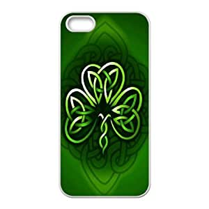 High Quality {YUXUAN-LARA CASE}Cetic Clover - Lucky Clovers For Apple Iphone 5 5S STYLE-12