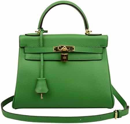 cc8e11cbe3f1 Ainifeel Women s Padlock 32CM 28CM 25 CM Shoulder Handbags Purses Hobo Bag
