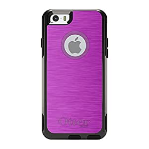 "CUSTOM Black OtterBox Commuter Series Case for Apple iPhone 6 (4.7"" Model) - Hot Pink Stainless Steel Print"