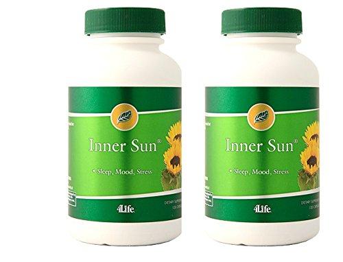 4life Inner Sun Mood Enhancing Formula Based on St. John's Wort B-vitamin 120 Capsules each (pack of 2) by 4life