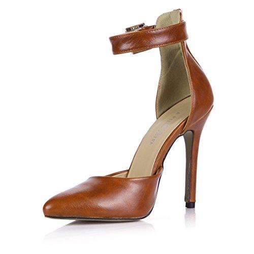 Mujer Consejos Mujeres Correa Alto Producto América En Color Mayor Palabra Solteras Nuevo Las Tacón Zapatos Camel Europa Y De AxRRwPqd
