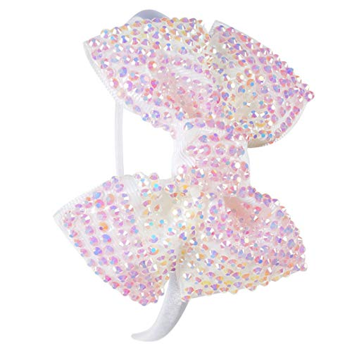 Princess Girls Rhinestone Bows Headbands Boutique Children Hairbands Tiara For Kids Candy Color Hair Hoop Hair Accessories 6