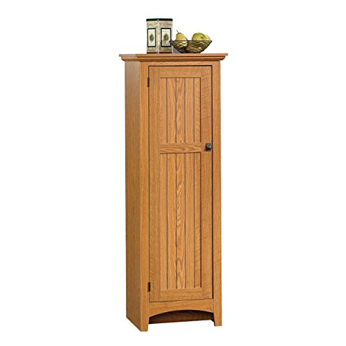 "Sauder  Summer Home Pantry, L: 21.496"" x W: 14.488"" x H: 61.102"", Carolina Oak Finish"