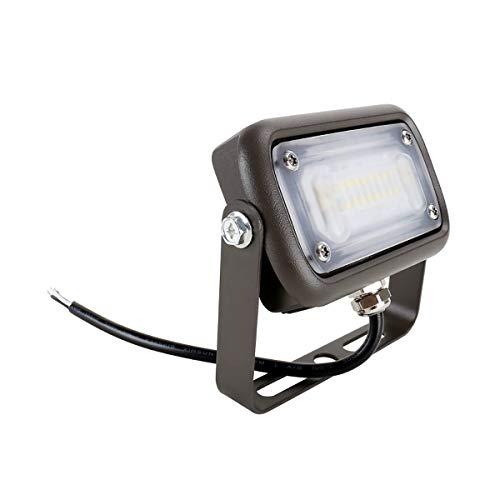 Mini LED 15W Flood Light 120V-277VAC Ra70 4000K 7H7V Trunnion Mount Dark Bronze