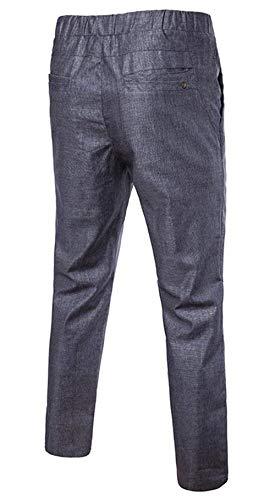 Sport Confortables Dunkel Casual Pantalon En D'été Avec Mode Air Hx Hommes Pure Couleur Plein De Tailles Maigre Respirant Cravate Grau Vêtements cpvqc81wH