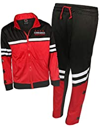 51578c98694c Boys 2 Piece Performance Tracksuit Set with Zip-Up Hoodie and Jog Pants