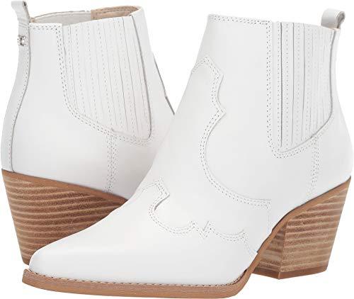 Sam Edelman Women's Winona Booties, White, 7.5 M US -