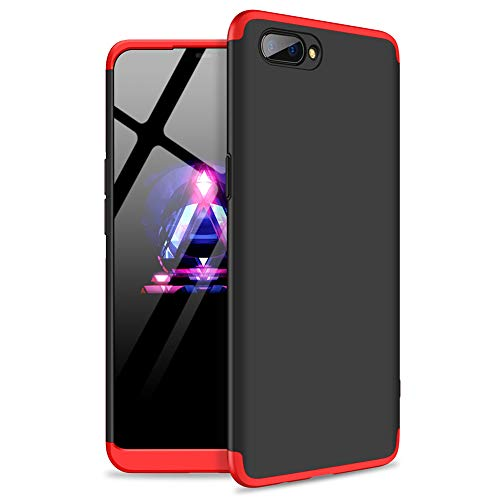 Oppo Realme C1 Case, 3 in 1 Detachable Anti-Scratch PC Hard Case 360° Full  Body Shockproof Protection Case Cover for Oppo Realme C1 (Black,Red)
