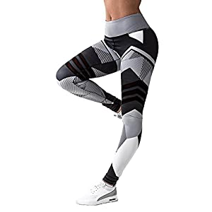 5d36b95e29 NonEcho High Waist Yoga Pants Fitness Leggings Stretchy Workout Tights for  Women Capris Activewear