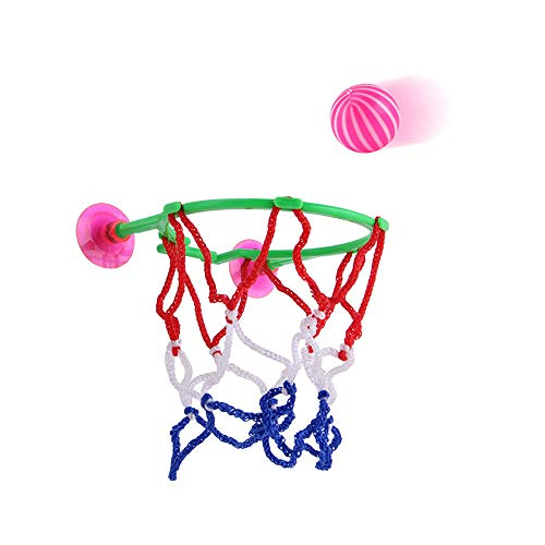 Euone Desktop Dolls Clearance , Kids Adults Portable Suction Cup Mini Toy Basketball Hoop Net Ball Pump Play Set -