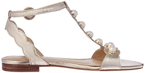 Marc Womens Open Toe Gold Leather Sandals Casual Fisher Ankle Elana Strap rwI5Axr7qO