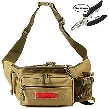 NOEBY Fishing Bag + Portable Fishing Plier Outdoor Fishing Tackle Bag Multiple Waist Bag Fanny Pack Waterproof Fanny Pack
