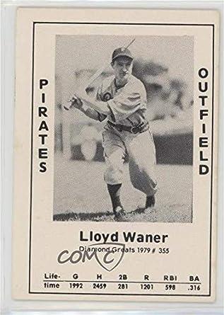 Amazoncom Lloyd Waner Baseball Card 1979 Tcma Diamond