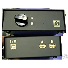 *NEW* 2 Way Printer Scanner USB - Port - AB A-B Switch Box - Works with MACS AND PCs